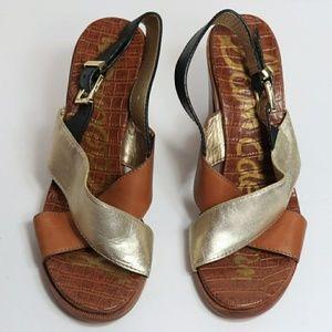 Sam Edelman 3 - 3/4 in sandals heels leather 8.5
